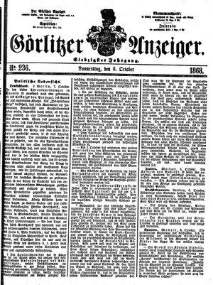 Görlitzer Anzeiger vom 08.10.1868