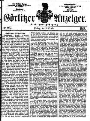 Görlitzer Anzeiger vom 09.10.1868