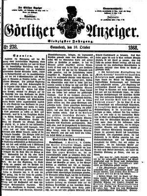 Görlitzer Anzeiger on Oct 10, 1868