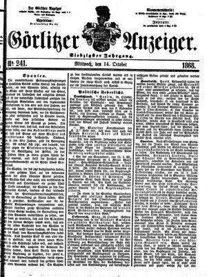 Görlitzer Anzeiger vom 14.10.1868