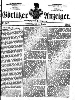 Görlitzer Anzeiger vom 15.10.1868