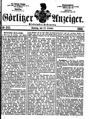 Görlitzer Anzeiger vom 18.10.1868