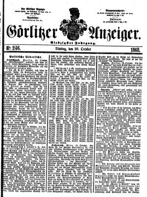 Görlitzer Anzeiger vom 20.10.1868