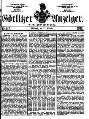 Görlitzer Anzeiger vom 21.10.1868