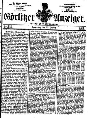 Görlitzer Anzeiger vom 22.10.1868