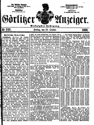 Görlitzer Anzeiger vom 23.10.1868
