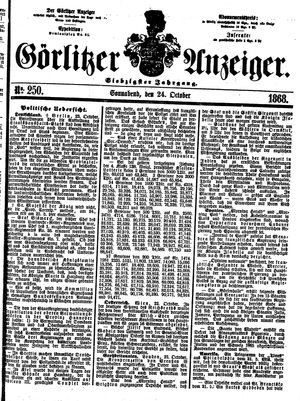 Görlitzer Anzeiger vom 24.10.1868