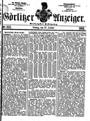 Görlitzer Anzeiger vom 27.10.1868