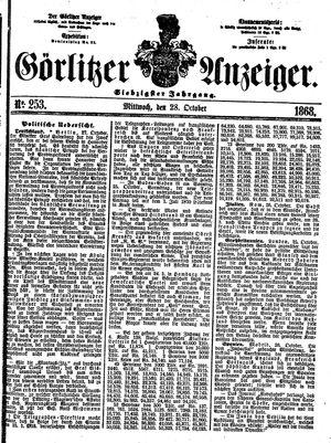 Görlitzer Anzeiger vom 28.10.1868