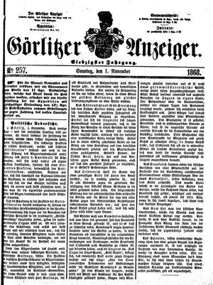 Görlitzer Anzeiger vom 01.11.1868