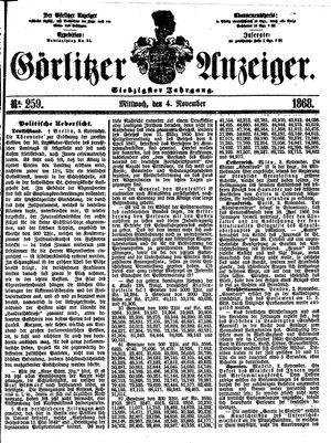 Görlitzer Anzeiger vom 04.11.1868