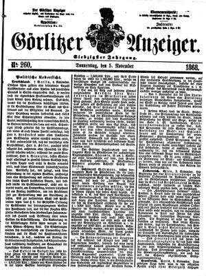 Görlitzer Anzeiger vom 05.11.1868
