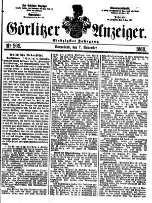 Görlitzer Anzeiger vom 07.11.1868