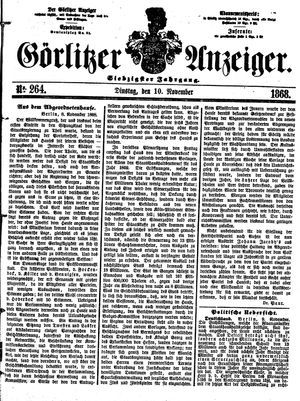 Görlitzer Anzeiger vom 10.11.1868