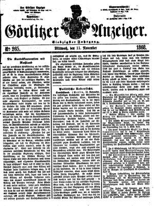 Görlitzer Anzeiger on Nov 11, 1868