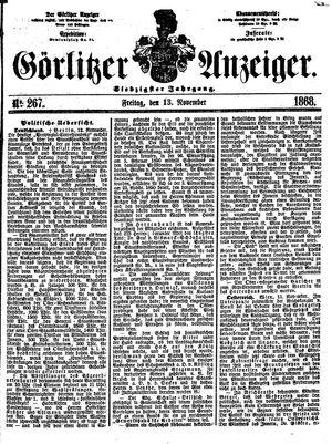 Görlitzer Anzeiger vom 13.11.1868