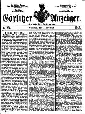 Görlitzer Anzeiger vom 14.11.1868