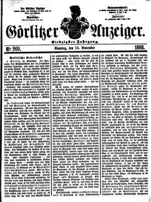 Görlitzer Anzeiger vom 15.11.1868
