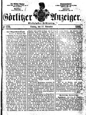 Görlitzer Anzeiger on Nov 17, 1868