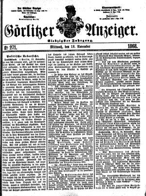 Görlitzer Anzeiger vom 18.11.1868
