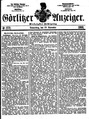 Görlitzer Anzeiger vom 19.11.1868