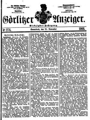 Görlitzer Anzeiger vom 21.11.1868