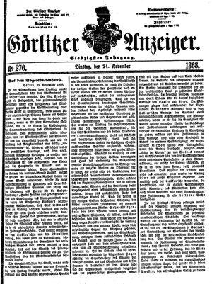 Görlitzer Anzeiger vom 24.11.1868