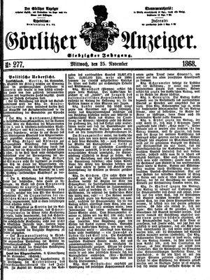 Görlitzer Anzeiger vom 25.11.1868