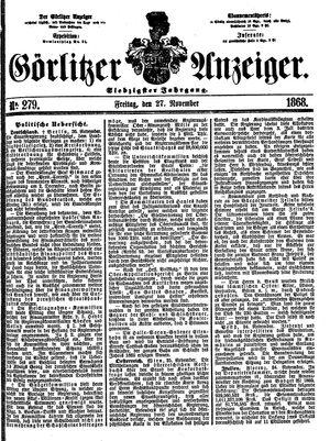Görlitzer Anzeiger vom 27.11.1868