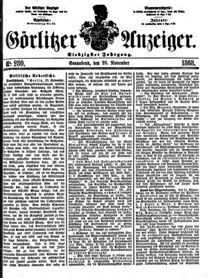 Görlitzer Anzeiger on Nov 28, 1868