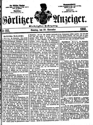 Görlitzer Anzeiger vom 29.11.1868