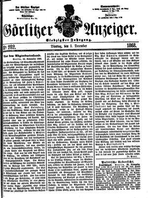 Görlitzer Anzeiger vom 01.12.1868