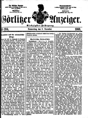 Görlitzer Anzeiger vom 03.12.1868