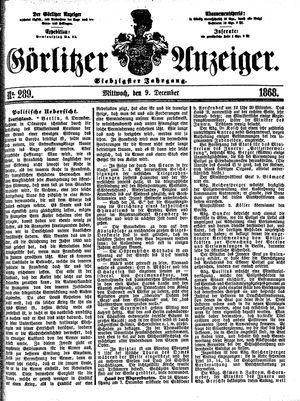 Görlitzer Anzeiger vom 09.12.1868