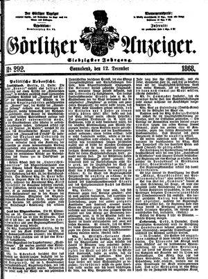 Görlitzer Anzeiger vom 12.12.1868