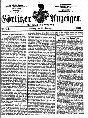 Görlitzer Anzeiger vom 15.12.1868