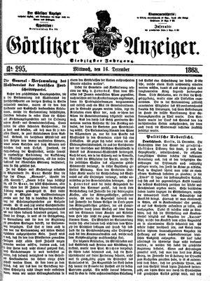 Görlitzer Anzeiger vom 16.12.1868