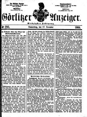 Görlitzer Anzeiger on Dec 17, 1868