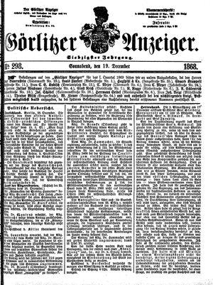 Görlitzer Anzeiger vom 19.12.1868