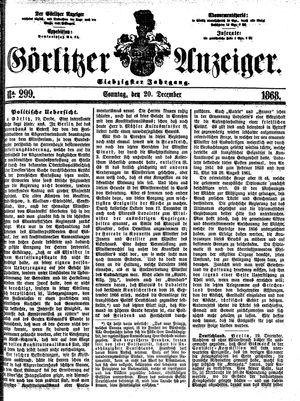 Görlitzer Anzeiger vom 20.12.1868