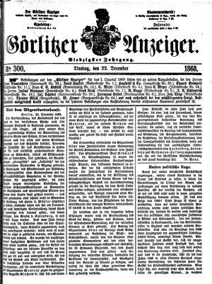 Görlitzer Anzeiger vom 22.12.1868
