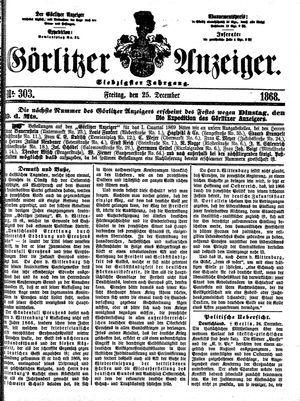 Görlitzer Anzeiger vom 25.12.1868