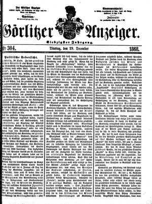 Görlitzer Anzeiger vom 29.12.1868