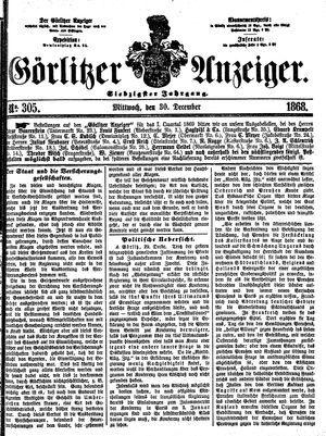 Görlitzer Anzeiger vom 30.12.1868