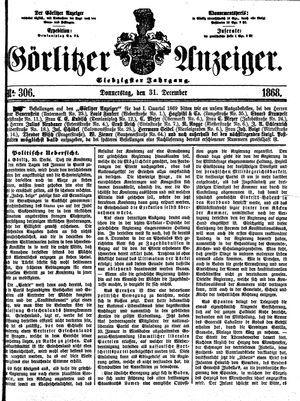 Görlitzer Anzeiger vom 31.12.1868