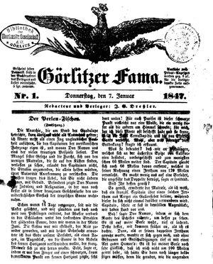 Görlitzer Fama vom 07.01.1847