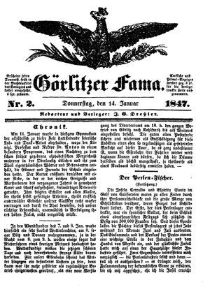 Görlitzer Fama vom 14.01.1847