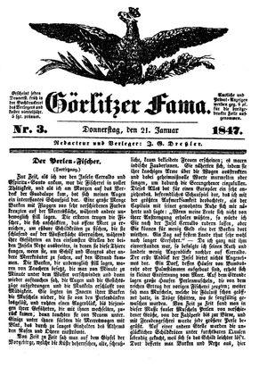 Görlitzer Fama on Jan 21, 1847