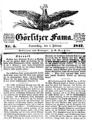 Görlitzer Fama vom 04.02.1847