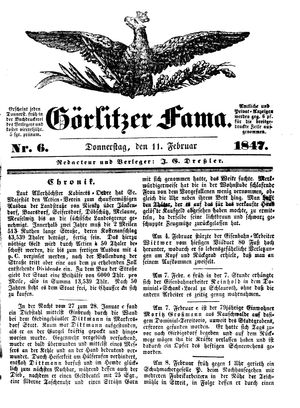 Görlitzer Fama vom 11.02.1847